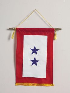 Blue Star Banner - Two Stars