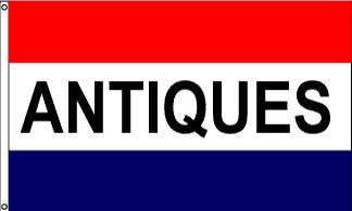 Antiques Message Flag - 3' x 5' - Nylon