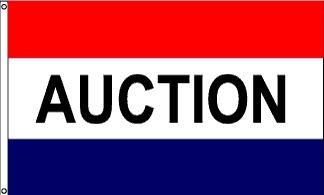 Auction Message Flag - 3' x 5' - Nylon