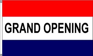 Grand Opening Message Flag - 3' x 5' - Nylon