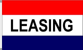 Leasing Message Flag - 3' x 5' - Nylon