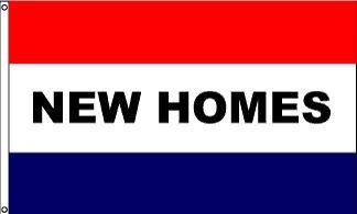 New Homes Message Flag - 3' x 5' - Nylon