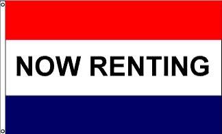 Now Renting Message Flag - 3' x 5' - Nylon