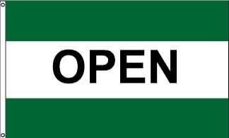 Open Double Green Message Flag - 3' x 5' - Nylon