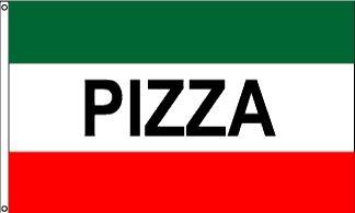 Pizza Message Flag - 3' x 5' - Nylon