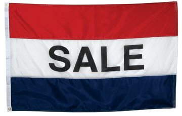 Sales Message Flag - 3' x 5' - Nylon