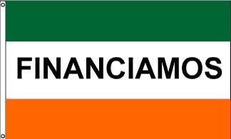 Financiamos Message Flag - 3' x 5' - Nylon