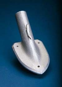 "Aluminum Wall Shield Brackets - For 1 1/8"" Pole Diameter - 25 Degree Angle"