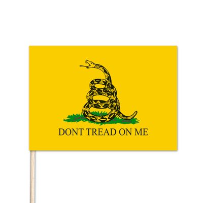 "U.S. Gadsden Stick Flag - 4"" x 6"" - 144 Minimum Order"