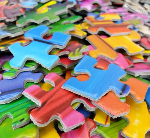Assorted Puzzle Pieces