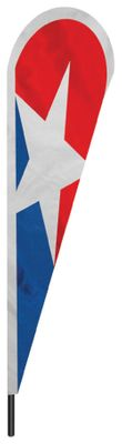 "Patriotic 2 Teardrop Flag - 10' x 30"" - Nylon"