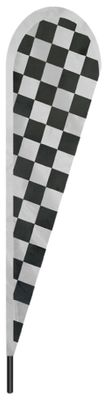 "Checkered Teardrop Flag - 10' x 30"" - Nylon"