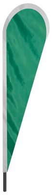 "Emerald Green Teardrop Flag - 10' x 30"" - Nylon"