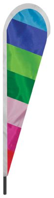 "Rainbow Teardrop Flag - 10' x 30"" - Nylon"