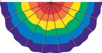 Pleated Nylon Rainbow Fan - 3' x 6'