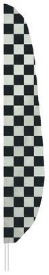 """Checkered Feather Flag - 12' x 26"""" - Nylon"""