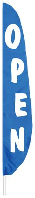 "Blue Open Feather Flag - 7' x 17"" - Nylon"