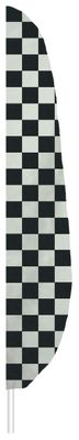 "Checkered Feather Flag - 7' x 17"" - Nylon"