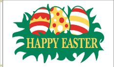 Easter Eggs Flag - 3' x 5' - Nylon