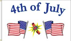 4th of July Flag - 3' x 5' - Nylon