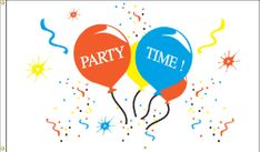 Party Time Flag - 3' x 5' - Nylon