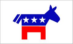 "Democratic Party Stick Flag - 4"" x 6"""