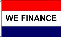 We Finance Message Flag - 3' x 5' - Nylon