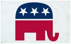 "Republican Party Stick Flag - 4"" x 6"""