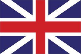 """British Union Stick Flag - 4"""" x 6"""" - Endura-Gloss"""