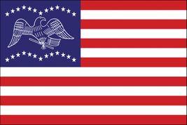 "General Fremont Stick Flag - 4"" x 6"" - Endura-Gloss"