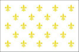 Fleur de Lis White 23 Flag - 3' x 5' - Nylon