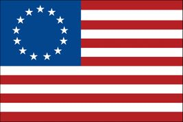 "Betsy Ross Stick Flag - 8"" x 12"" - Endura-Gloss"