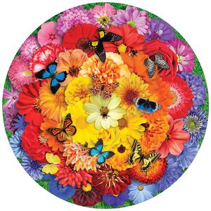 Colorful Bloom 500 Piece Round Jigsaw Puzzle