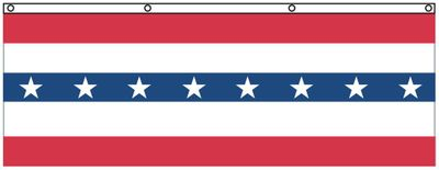 Patriotic Flats - 3 x 8 - Nylon with Stars