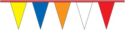 Multi-Color Pennant Streamers - 60' - Plastic