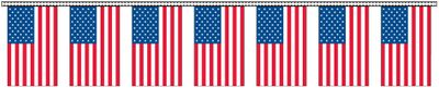 American Flag Streamers - 30' - Plastic