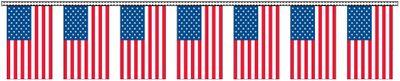American Flag Streamers - 60' - Plastic