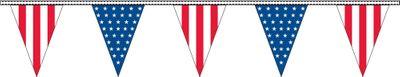 Patriotic Pennant Streamers - 30' - Plastic