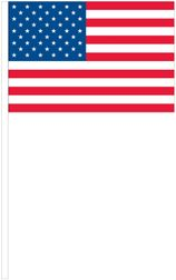 "U.S. Antenna Flags - 8"" x 12"" - Polyester"