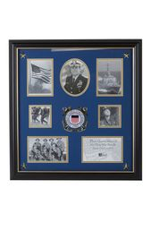 American Flag Medallion 4 Inch By 6 Inch Desktop Picture Frame