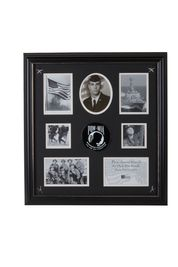 POW MIA Medallion 7 Picture Collage Frame with Stars