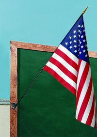 U.S. Classroom Flag - 12 x 18 - Printed Polyester - 30 Wood Staff