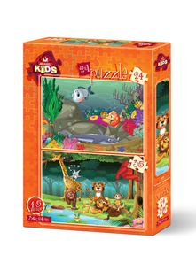 Underwater & Forest Animals Puzzle Set