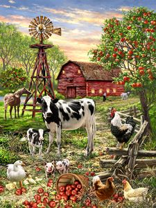 Barnyard Animals 100 Piece Jigsaw Puzzle