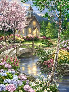 Spring Chapel 100 Piece Jigsaw Puzzle