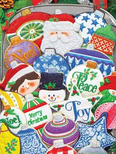 Christmas Ornament Cookies 500 Piece Jigsaw Puzzle
