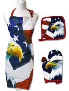 Patriotic Apron Set