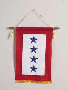 Blue Star Banner - Four Stars