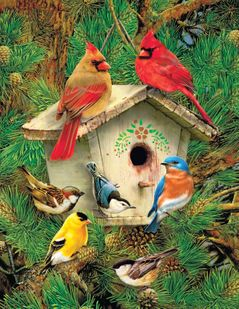 Feathered Retreat 350 Piece Jigsaw Puzzle