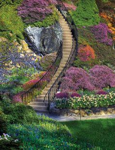 Garden Stairway 350 Piece Jigsaw Puzzle